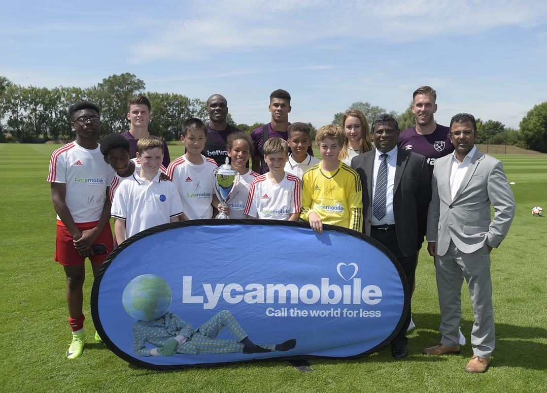 Winners of the Lycamobile Cup 2016-17 visit West Ham United Training Ground